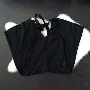 Anthro Elevenses Black Erinna Culotte Jumpsuit